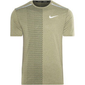 Nike Breathe Tailwind SS Running Top Men medium olive/sequoia